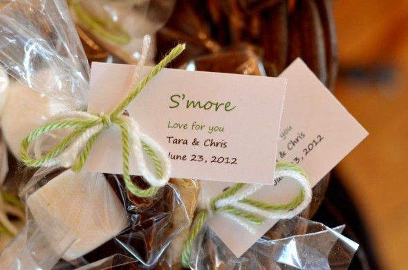 Rustic Wedding Smore Favor