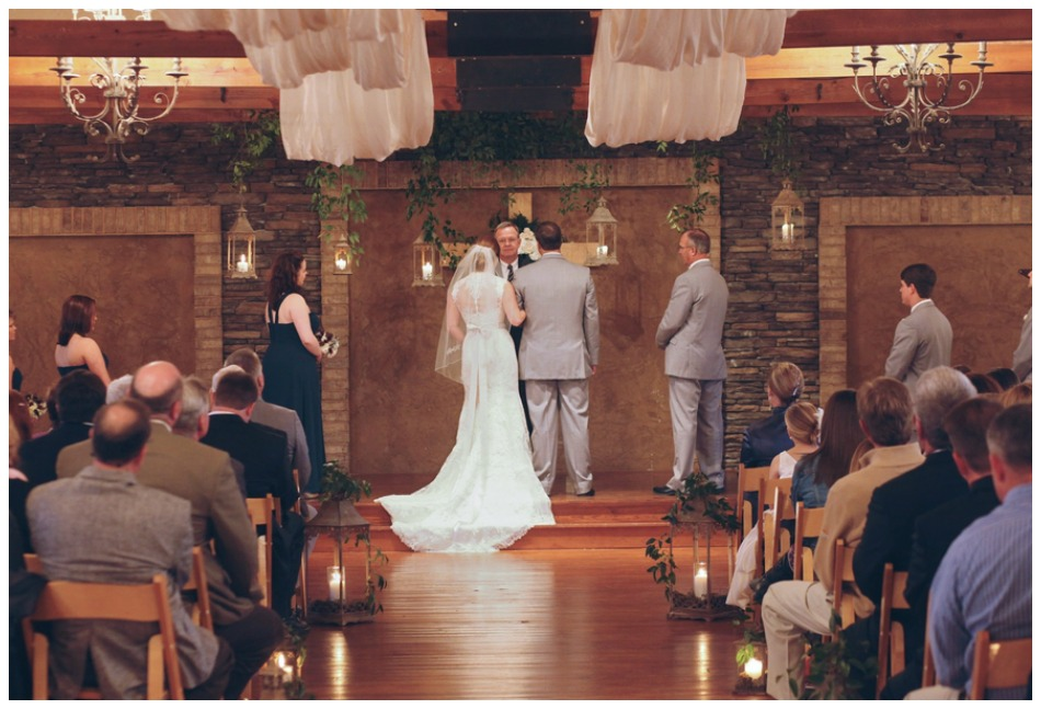 An Indoor Rustic Ceremony: Alabama Stone Farm Wedding