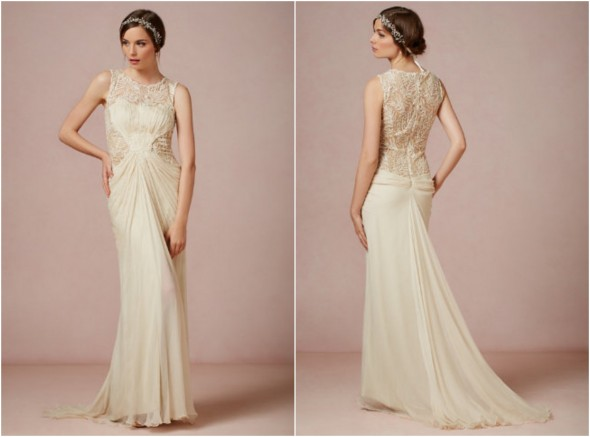 Beige Lace Bhldn Wedding Dress Or Bridesmaid Gown: BHLDN Fall Wedding Gowns