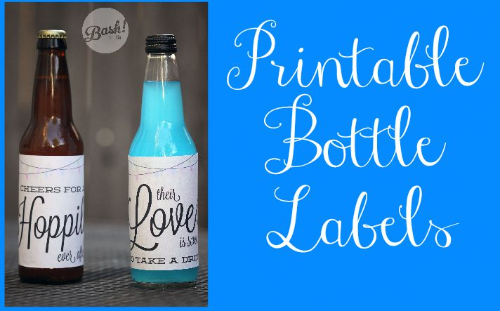 Wedding Bottle Printable Labels Rustic Wedding Chic