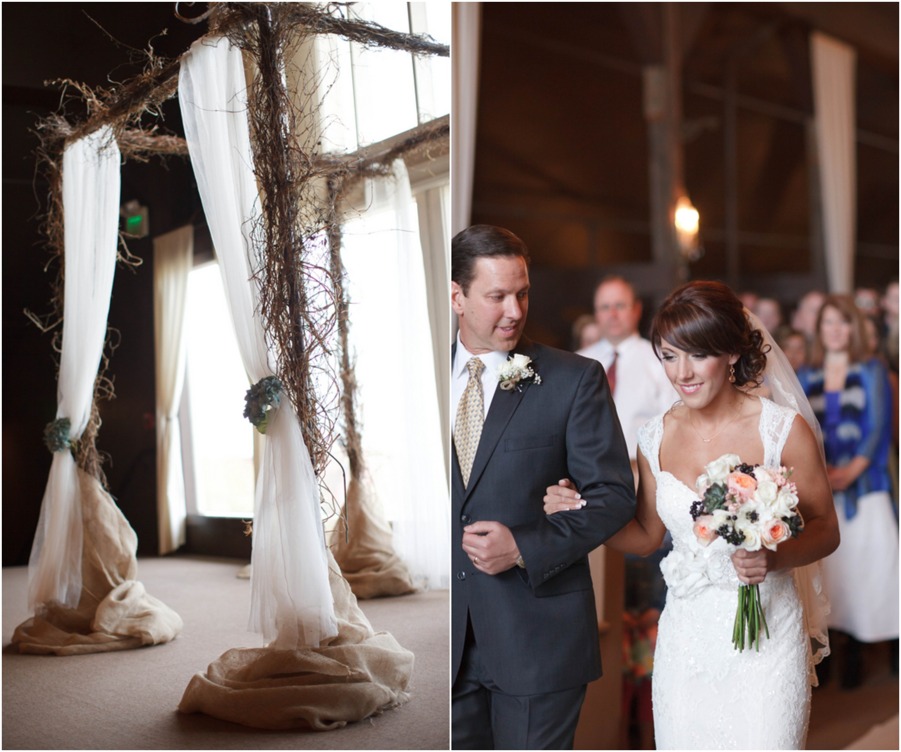 Rustic Wedding Arch With Burlap: Romantic Rustic Country Wedding