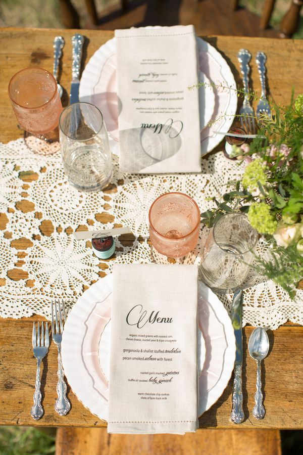 ... Vintage Wedding Table Setting ... & Country Vintage Wedding Inspiration - Rustic Wedding Chic