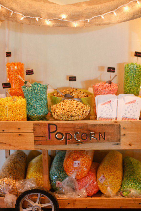 Popcorn Wedding Bar