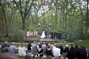 This is why we love outdoor rustic wedding ceremonies