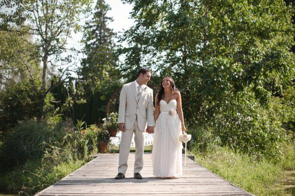 Happy Rustic Wedding Couple
