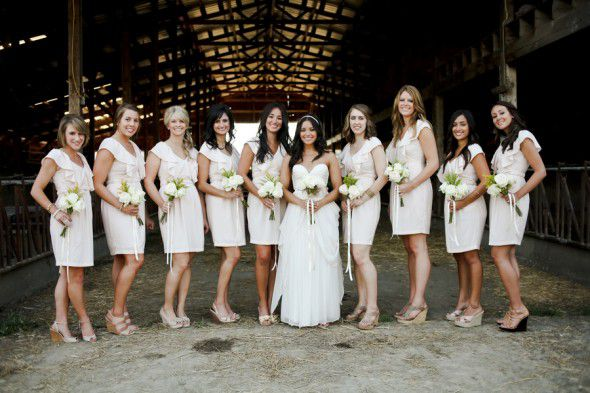 Farm Wedding Bridesmaids