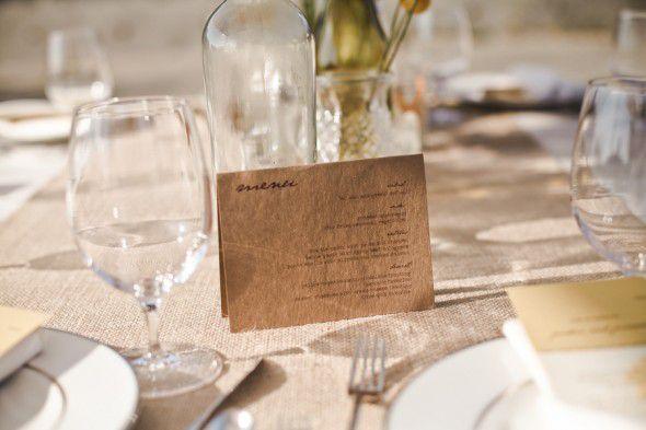 Vintage Style Farm Wedding Table