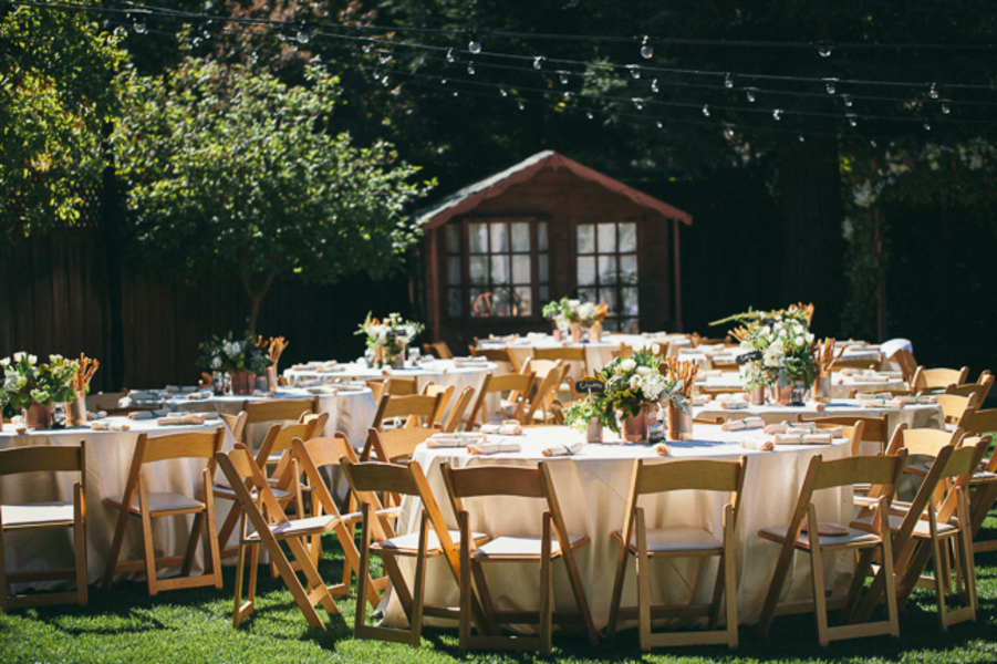 Elegant Backyard Wedding - Rustic Wedding Chic