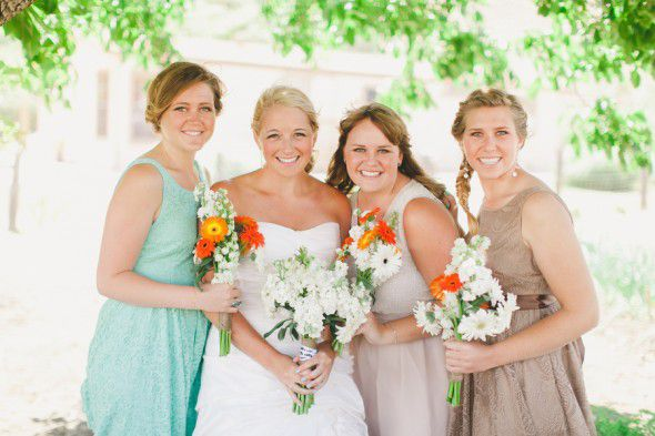 Rustic Bride And Bridesmaids