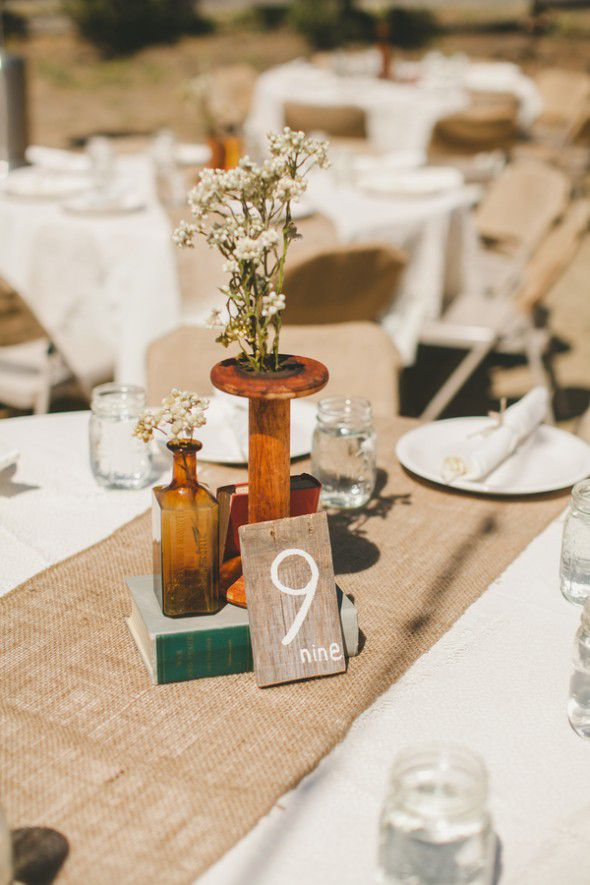 Barn Wedding Table Numbers