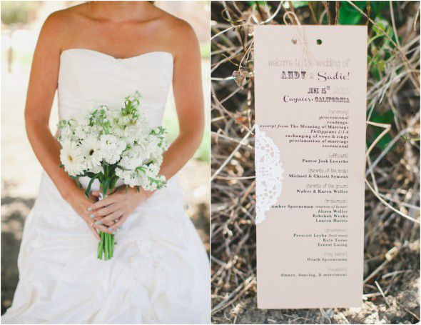 Country Elegant Wedding Program