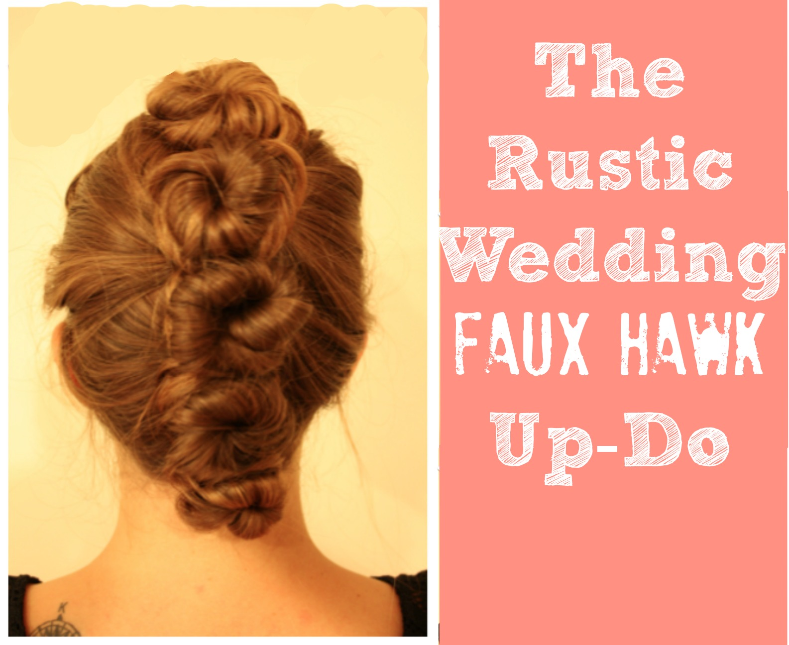 Rustic Wedding Hair Up Do