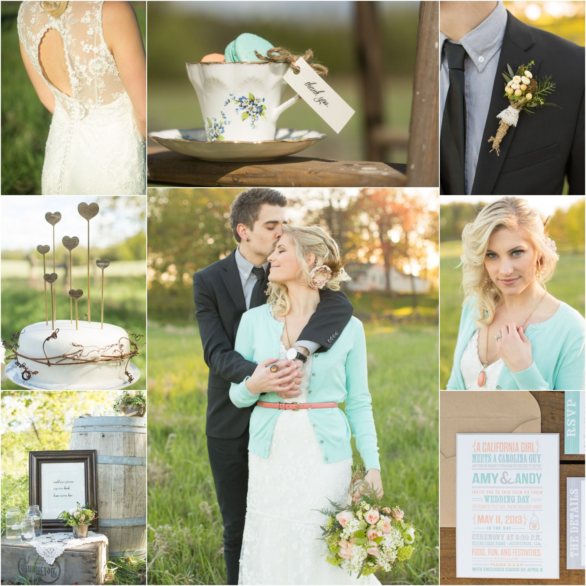 Light Blue Country Wedding