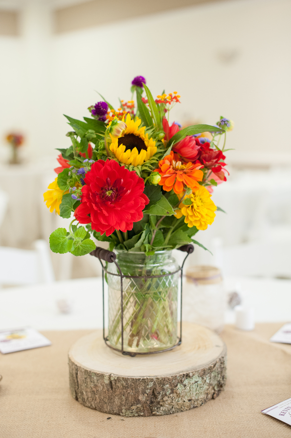 Sunflower farm wedding rustic chic