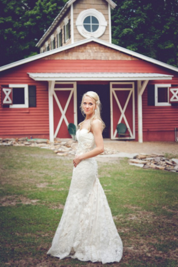 Country Bride At Barn Wedding