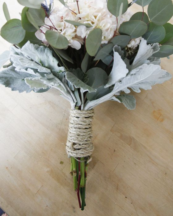 how to make a bouquet handle