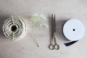 DIY Knotted Twine & Ribbon Boutonnière