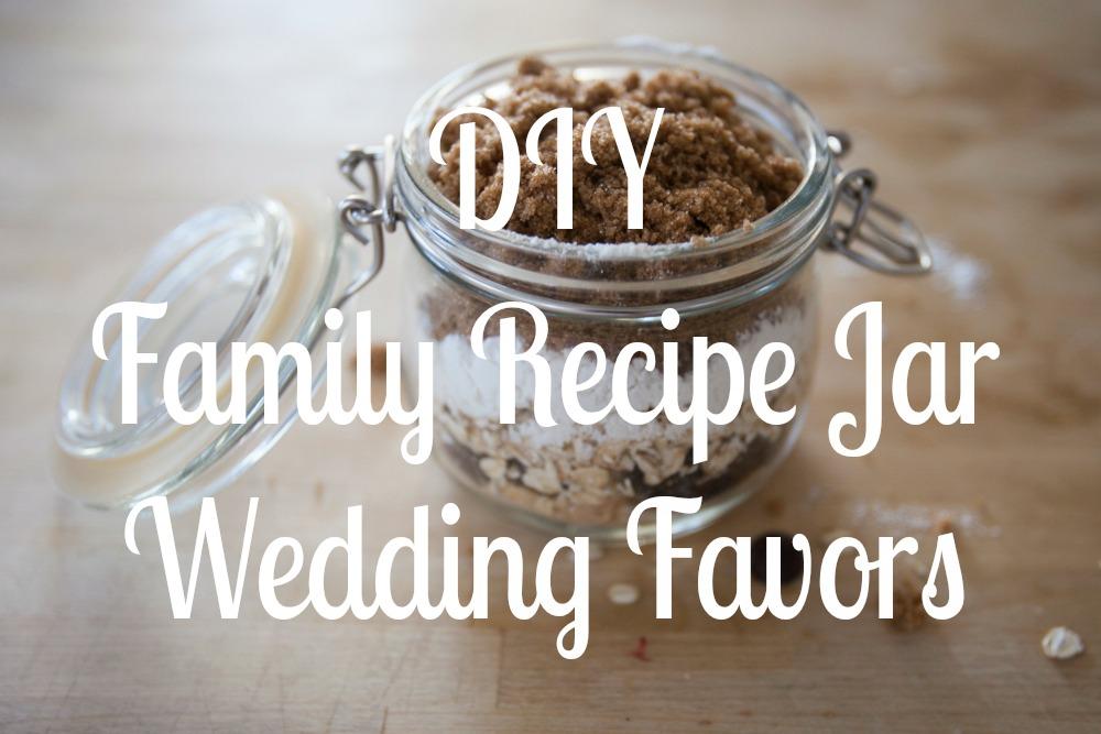 Diy family recipe mason jars rustic wedding chic