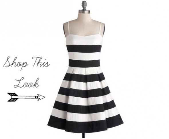 Dress  Black White Str...