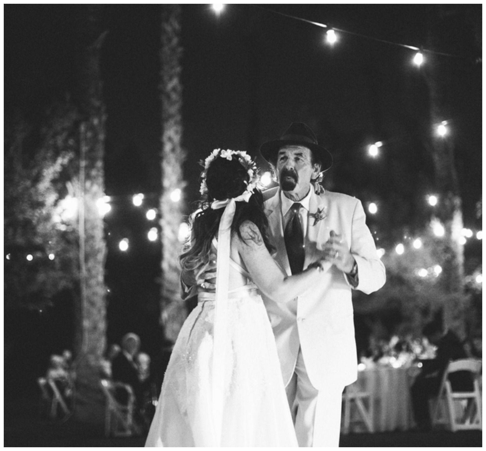 Bride Dances With Dad On Wedding Day: Unique Palm Spring Garden Wedding