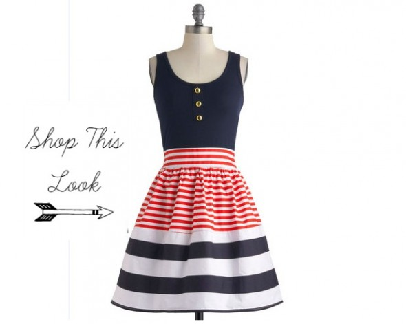 Chic Blue Dress Dresses · Red White Blue