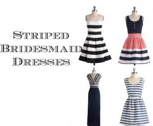 Striped Bridesmaid Dresses