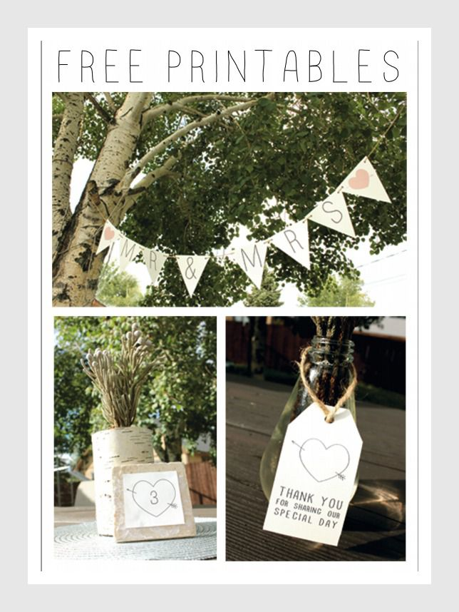 Wedding Printables