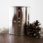 DIY Glimmering Tin Can Lantern