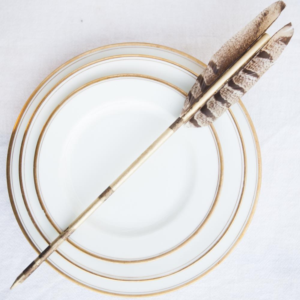 DIY Golden Wedding Arrows