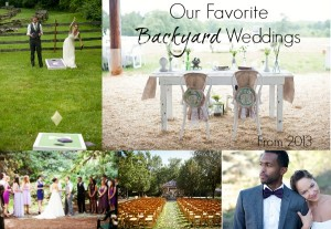 Backyard Weddings From 2013