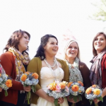 Bride & Bridesmaids In Sweater