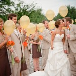 Bride & Groom Send Off with Balloons!