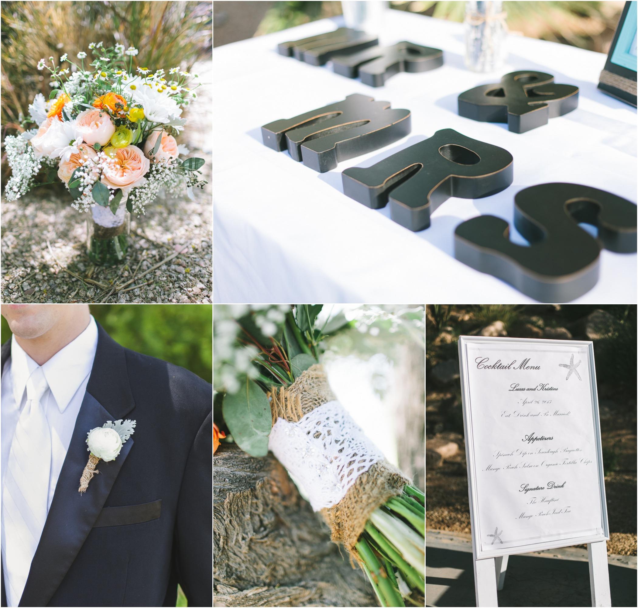 Burlap Wedding: Rustic Chic Wedding At Sanctuary Camelback Mountain