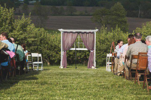 Purple Ceremony Backdrop