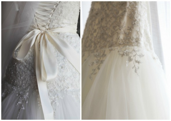 Embellished Wedding Dress Detail