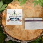 Canoe Paddle Wedding Invitation