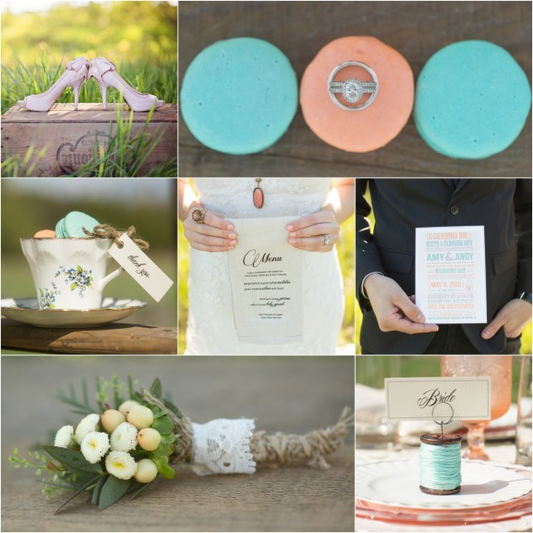 Blue And Pink Wedding Ideas: Country Vintage Wedding Inspiration