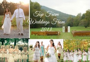 Top 10 Farm Weddings From 2013
