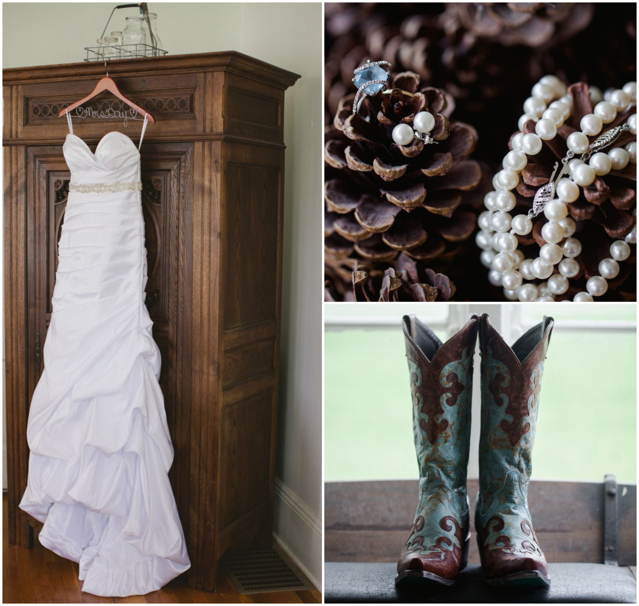 Country Wedding Dresses With Boots: Country Chic Farm Wedding
