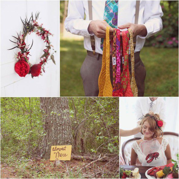 Anthropologie Style Wedding