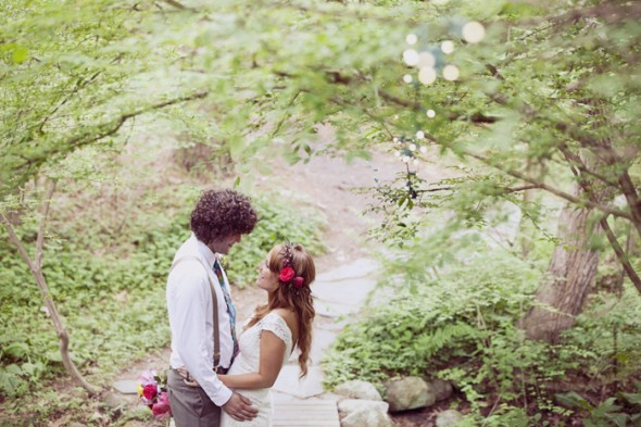 Rustic Vintage Wedding Couple