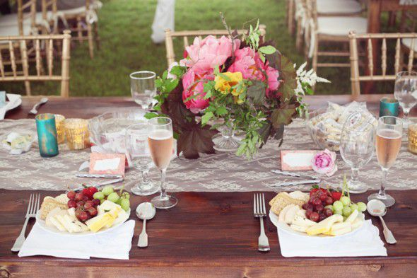 Vintage Chic Wedding Reception
