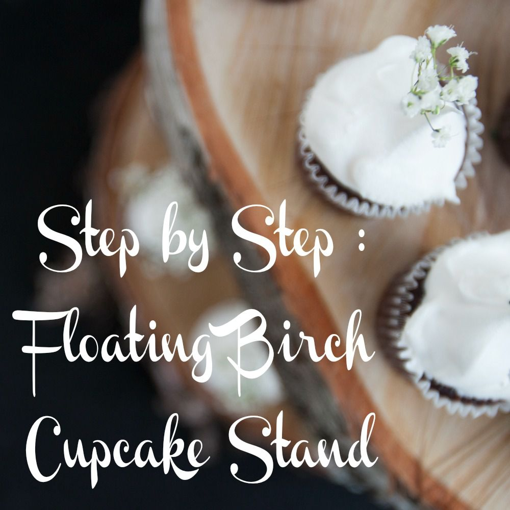 Wedding Cupcake Stand Ideas: DIY Floating Birch Cake Stand