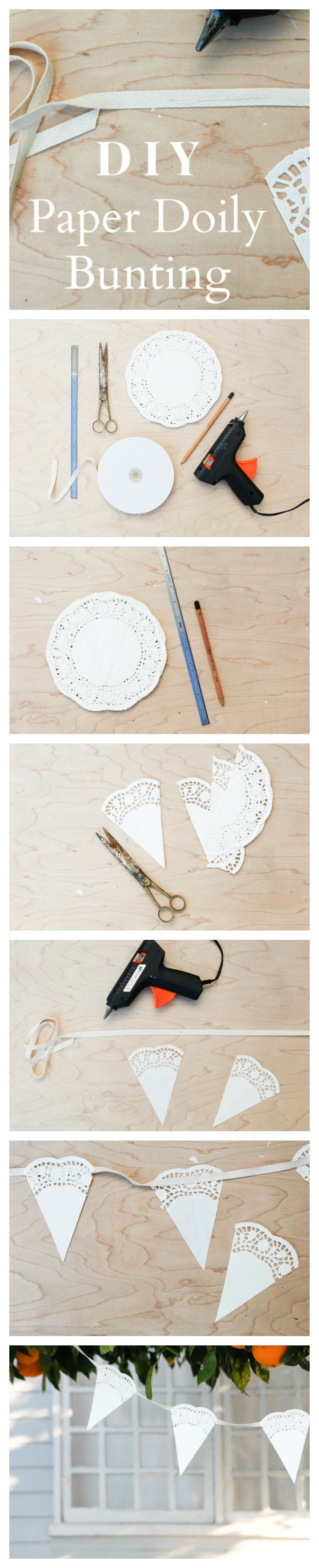 How To Make Paper Doily Bunting Rustic Wedding Chic