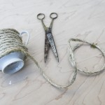 DIY Twine Wrapped Tea Cups