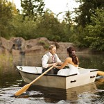 Bride & Groom In Boat