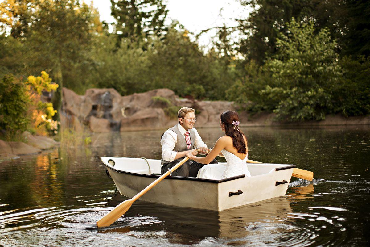 Bride & Groom In Boat