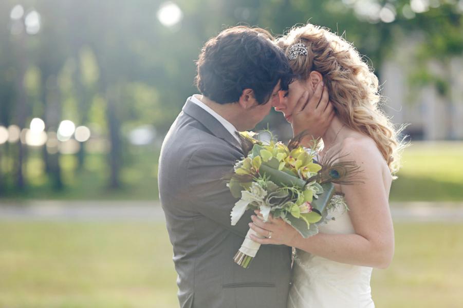 Southern Rustic Wedding Couple
