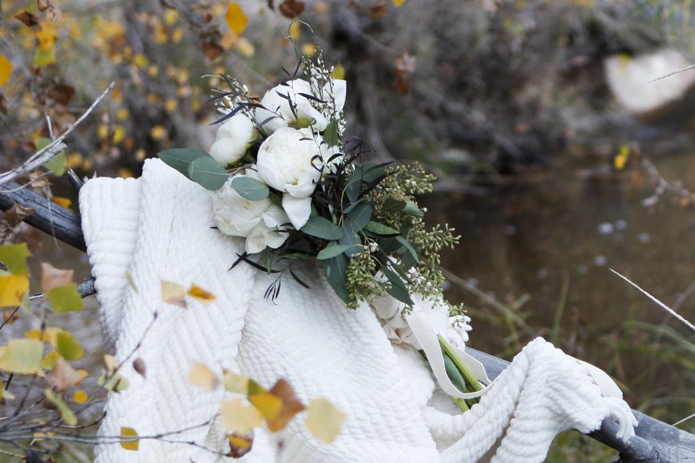 White Peony & Eucalyptus Bouquet
