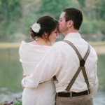 Woodland Rustic Wedding Couple
